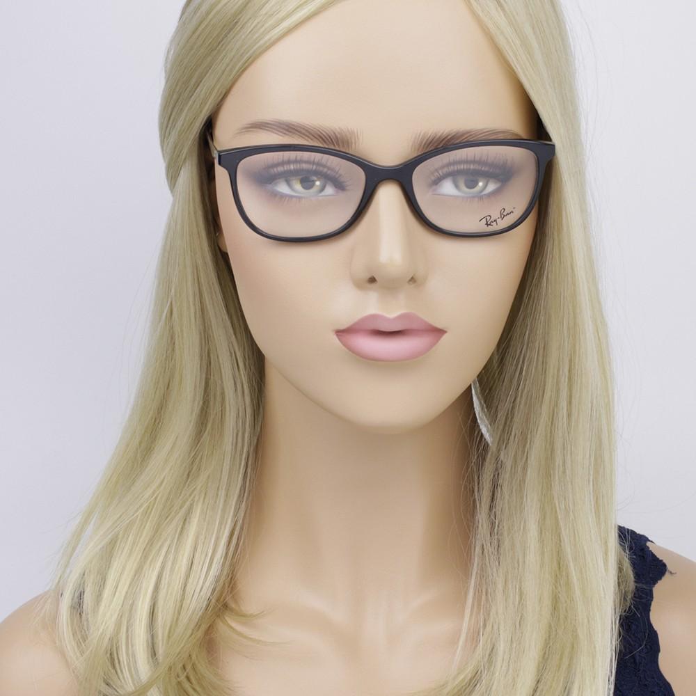 ... Óculos de Grau Ray-Ban Gatinho Acetato Preta Aro Fechado Sem Plaquetas  0rx7106l 5697 53 ... 088e87022e