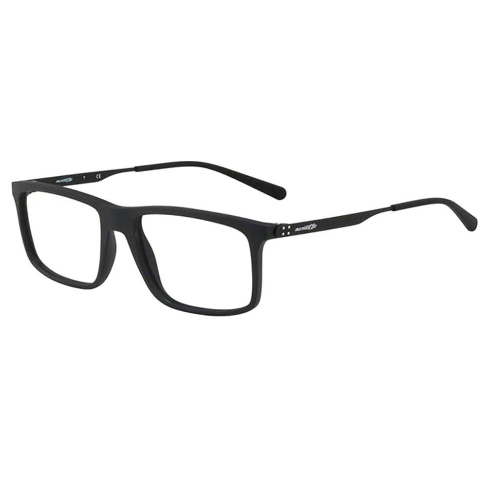 42c96fe05744a Óculos de Grau Arnette Retangular Acetato Preta Aro Fechado Sem Plaquetas  0an7137 01 54