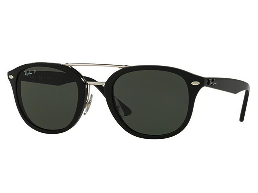 3fa451b7a161f Óculos de Sol Ray-Ban Redondo Armação Acetato Preta Lente Preta Polarizada  Com Plaquetas 0rb2183