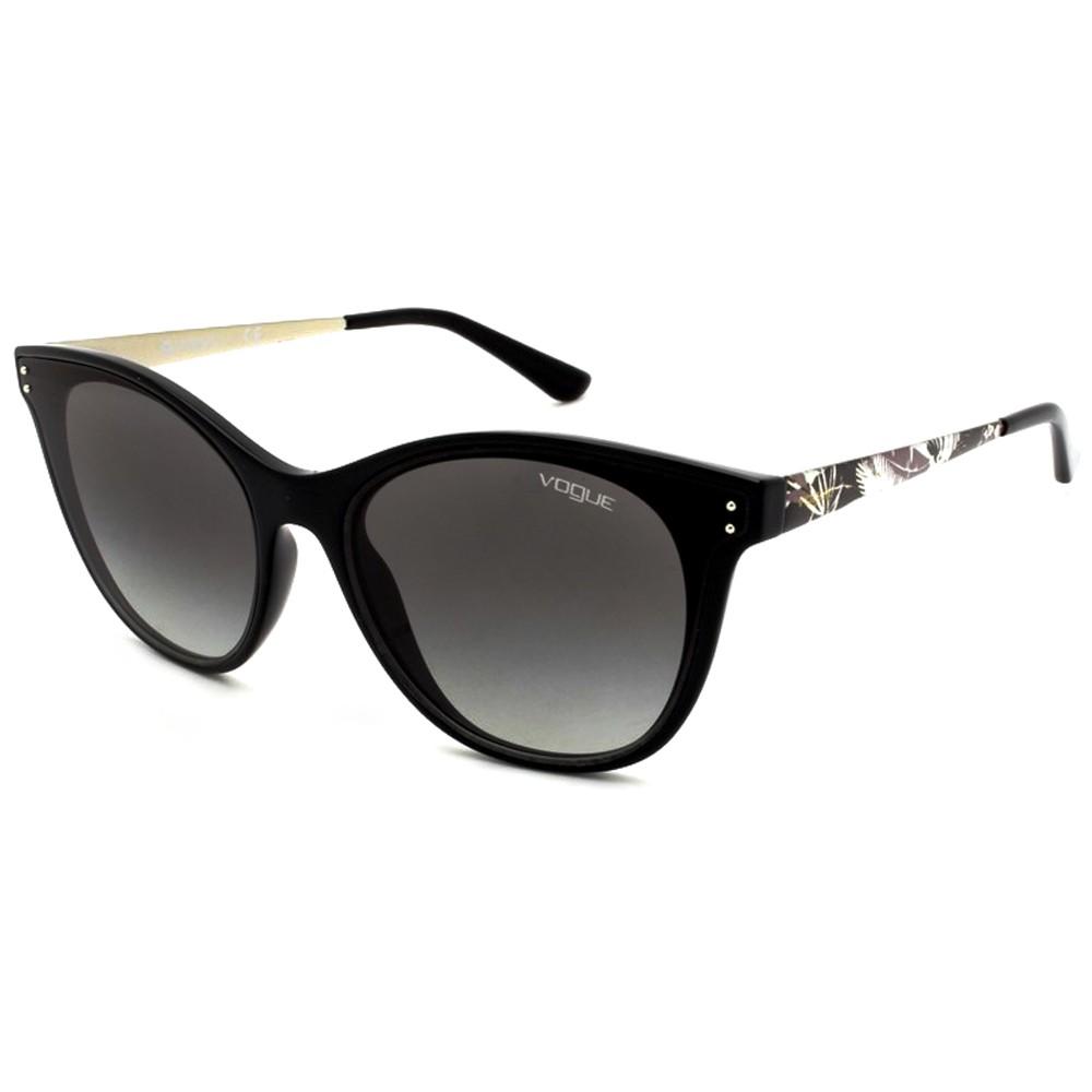 ec3333dded0d1 Óculos de Sol Vogue Gatinho Armação Acetato Preto Lente Preta Comum Sem  Plaquetas 0vo5205s w44  ...