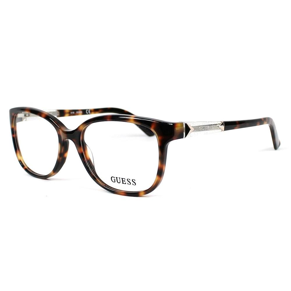Óculos de Grau Guess Redondo Acetato Tartaruga Aro Fechado Sem Plaquetas  gu2560 52052 ... 256cd3604c