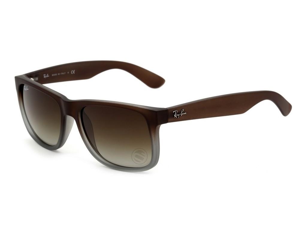 6e6b720aa87a9 Óculos de Sol Ray-Ban Wayfarer Armação Acetato Marrom Lente Marrom Degradê  Sem Plaquetas 0rb4165l854