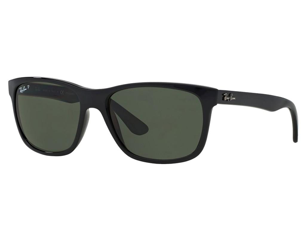 573242281a5e3 Óculos de Sol Ray-Ban Quadrado Armação Acetato Preta Lente Preta Degradê  Sem Plaquetas 0rb4181