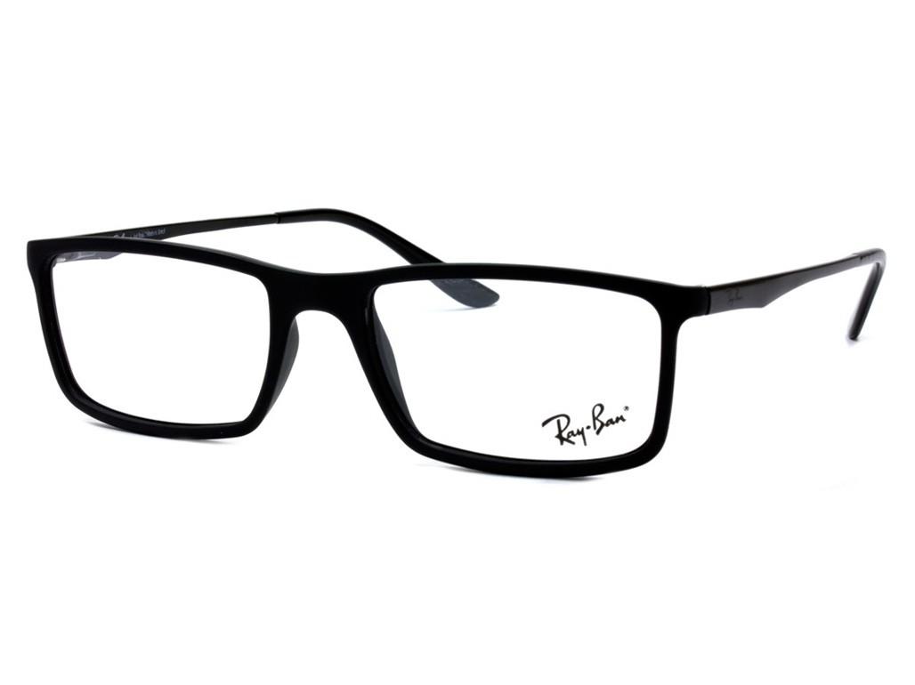 325544053155a Óculos de Grau Ray-Ban Quadrado Acetato Preta Aro Fechado Sem Plaquetas  0rx7026l 519654
