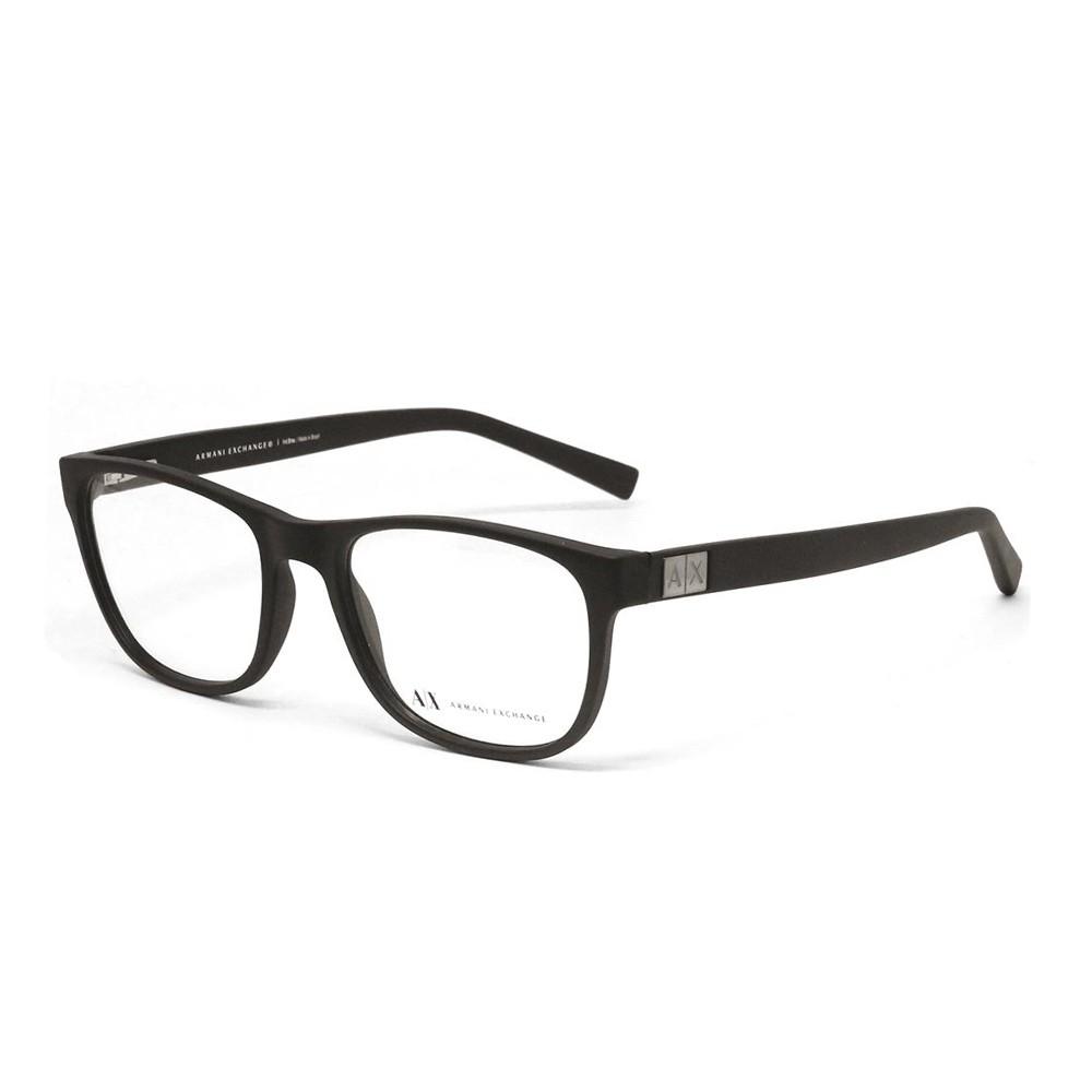 Óculos de Grau Armani Exchange Quadrado Acetato Marrom Aro Fechado Sem  Plaquetas 0ax3034l 8194 54 ... 74580e1588