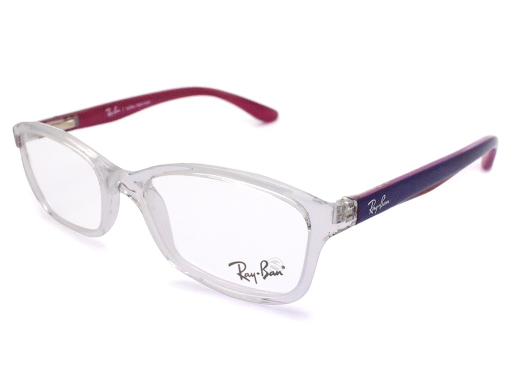 f39bac30c8503 Óculos de Grau Ray-Ban Quadrado Acetato Transparente Aro Fechado Sem  Plaquetas 0ry1539l361347