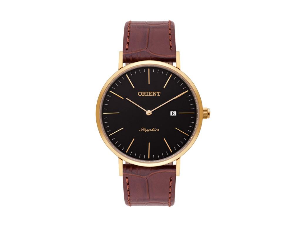 a7bb0bdd194 Relógio Orient Sapphire Preto e Marrom Masculino Authentika Joias