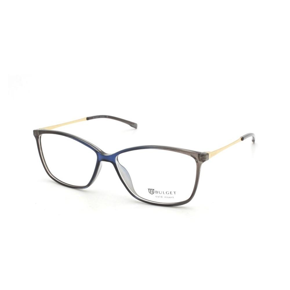 Óculos de Grau Bulget Retangular Acetato Marrom Aro Fechado Sem Plaquetas  bg4074 c01 ... 12db81ad4a