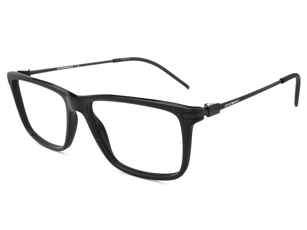 Óculos de Grau Emporio Armani Quadrado Acetato Preta Aro Fechado Sem  Plaquetas 0ea3063501755 077c64b17c