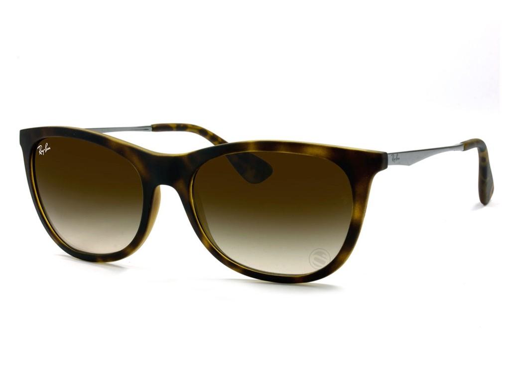 fc6444034f83f Óculos de Sol Ray-Ban Redondo Armação Acetato Tartaruga Lente Marrom  Degradê Sem Plaquetas 0rb4241l710 ...