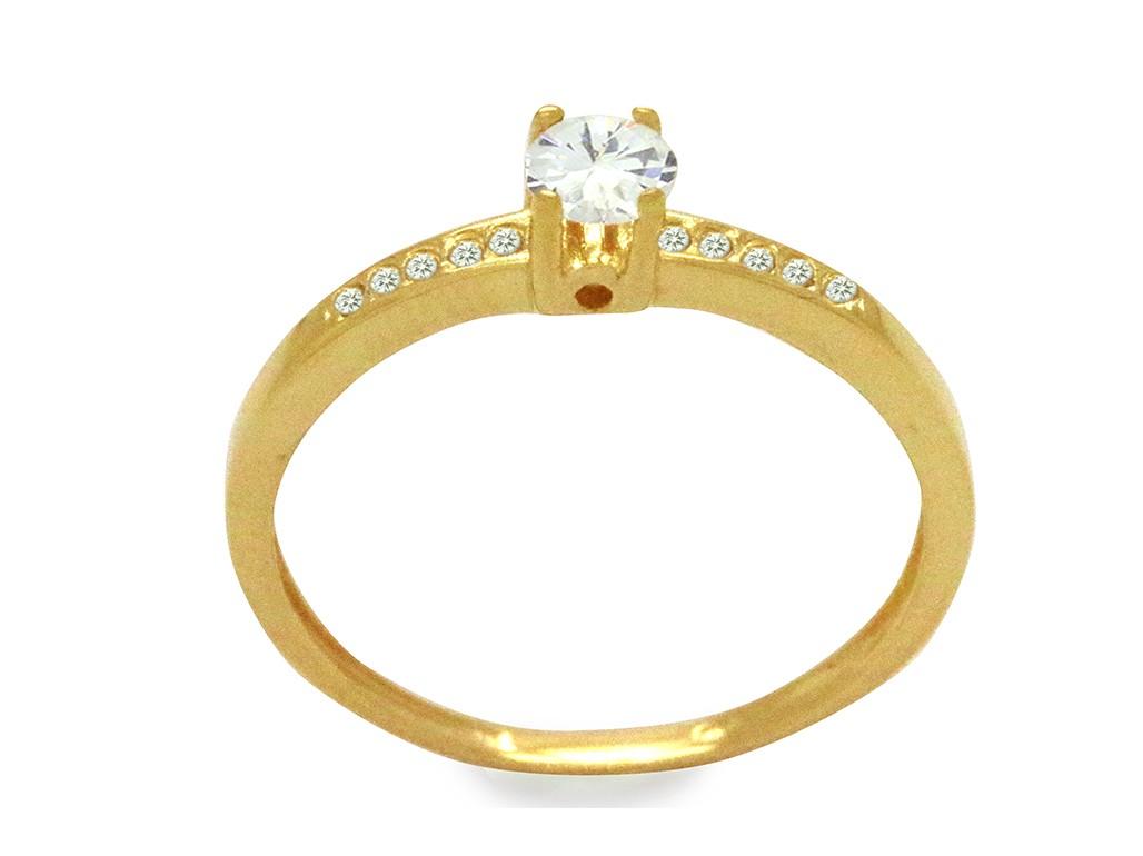 Anel Ouro 18k Amarelo Solitário Cartier Zircônia Branca 4mm Laterais  Cravejadas Feminino N° 22 9c55c22063