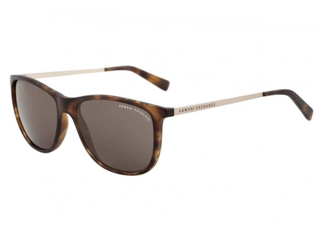 04c7ca1f82ef8 Óculos de Sol Armani Exchange Wayfarer Plástico Acetato Tartaruga Lente  Marrom Comum Sem Plaquetas 0ax4047sl80297157