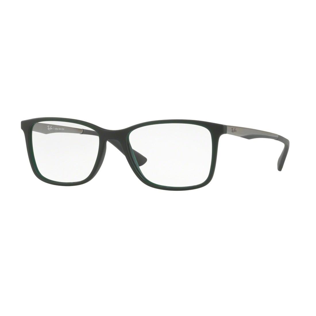 Óculos de Grau Ray-Ban Quadrado Acetato Verde Aro Fechado Sem Plaquetas  0rx7133l 5483 55 ... 2fedca2ab6