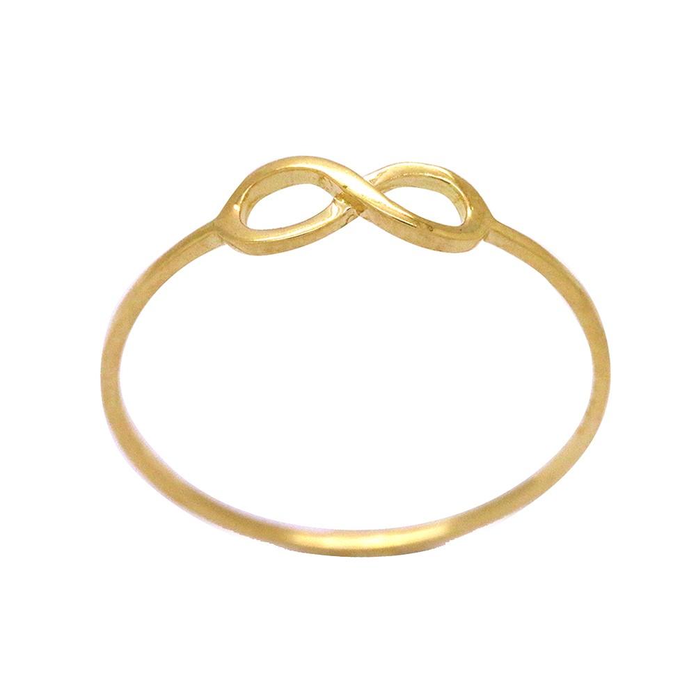 cd70a529d3de1 Anel Ouro 18k Amarelo Aro Fino Infinito Pequeno Liso Authentika Joias