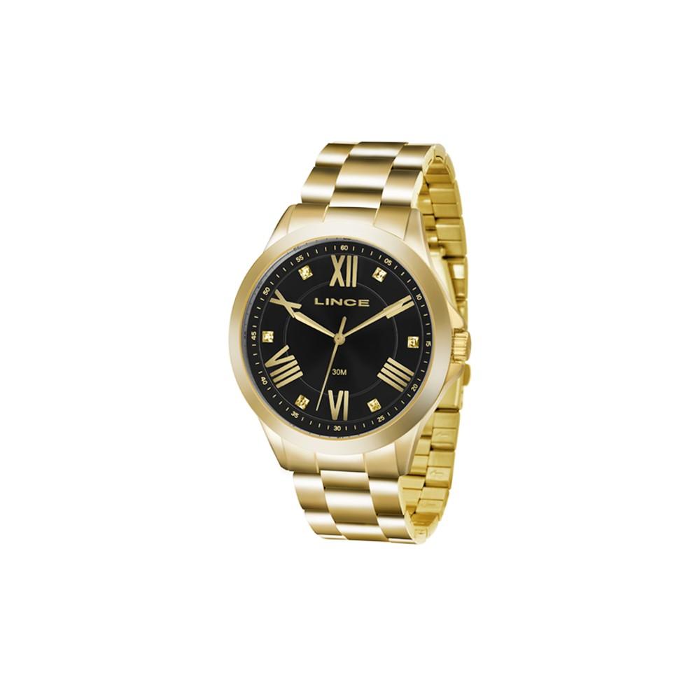 9c6f180483a Relógio Lince Dourado e Preto Unissex Authentika Joias