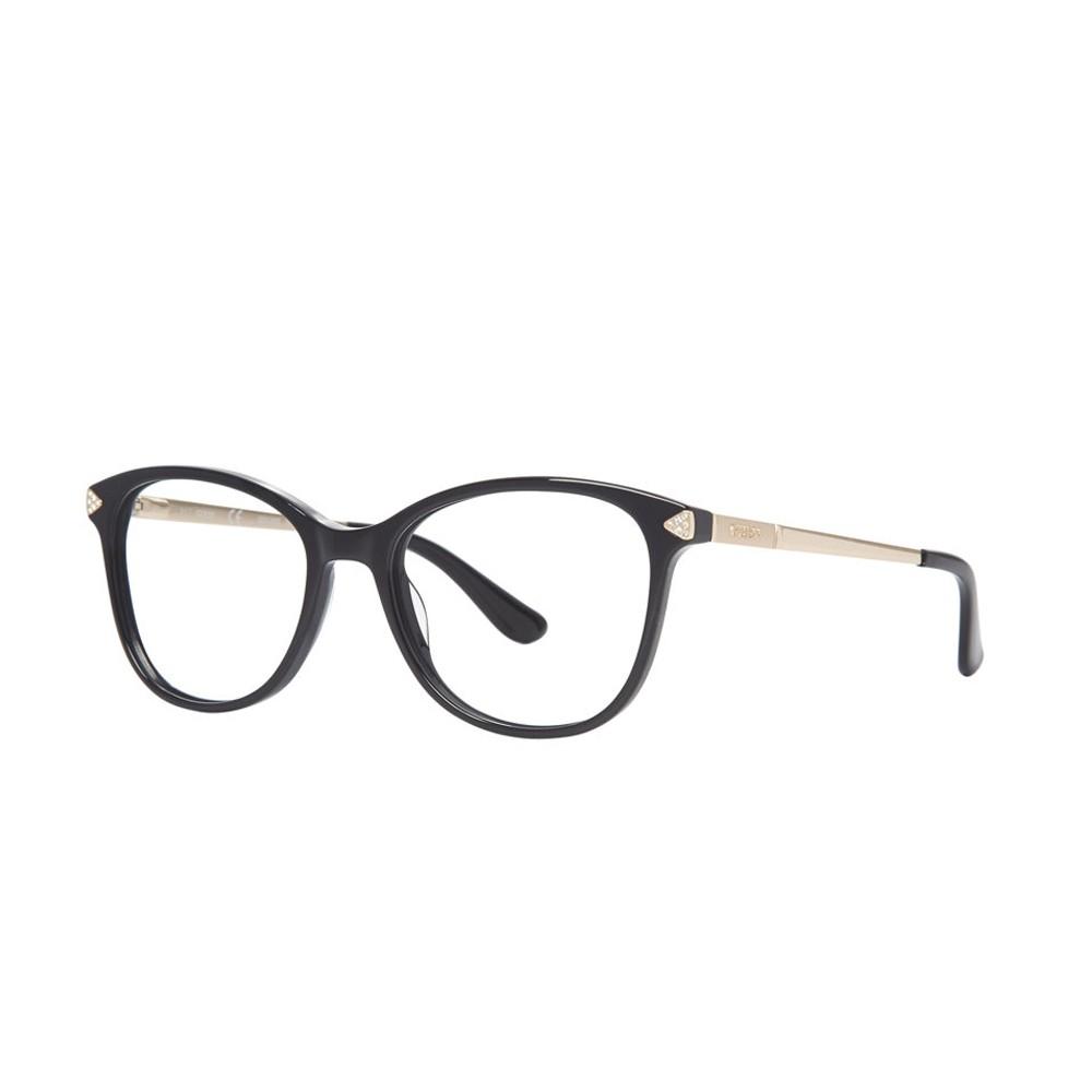 Óculos de Grau Guess Redondo Acetato Preta Aro Fechado Sem Plaquetas  gu2632-s 54005 ... 651635cc5b