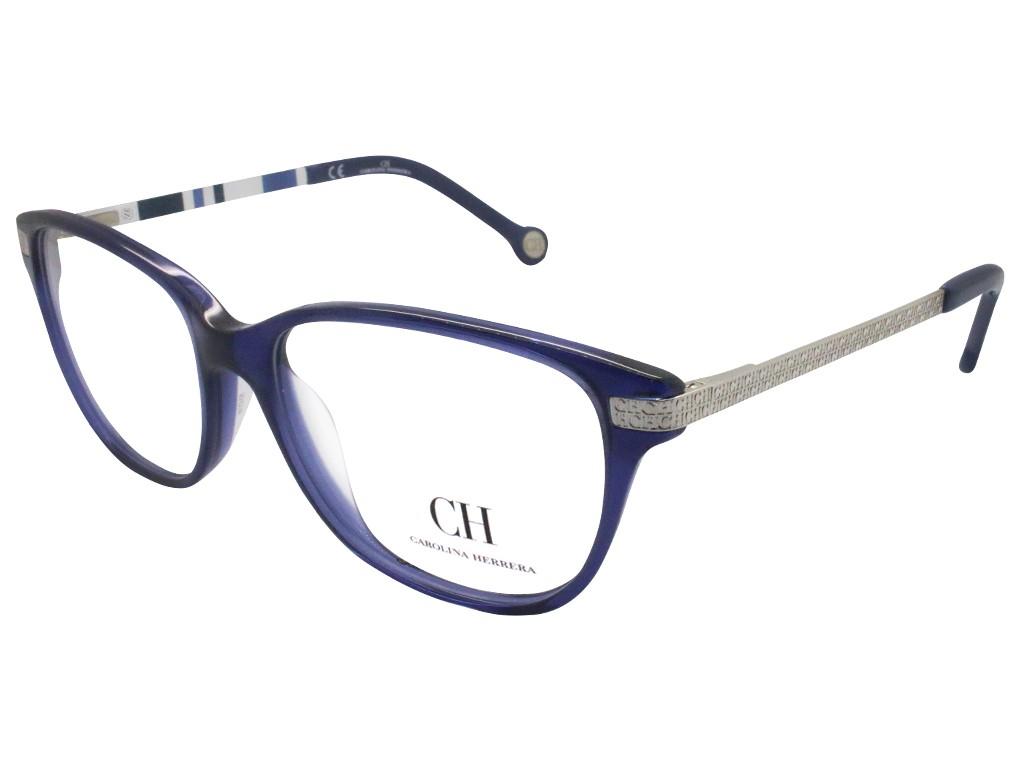 Óculos de Grau Carolina Herrera Quadrado Acetato Azul Aro Fechado Sem  Plaquetas vhe637530t31 27bd2e9beb