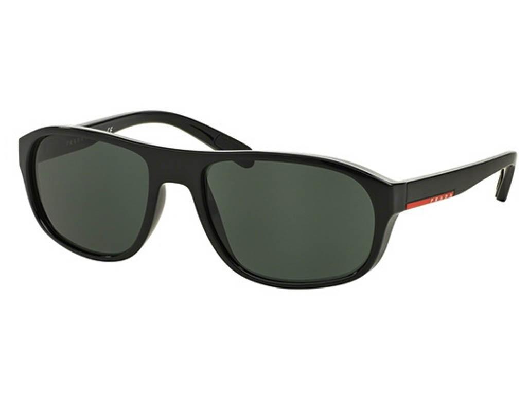 Óculos de Sol Prada Retangular Armação Acetato Preta Lente Verde Comum Sem  Plaquetas 0ps01rs1ab3o158 be5c7a2c26