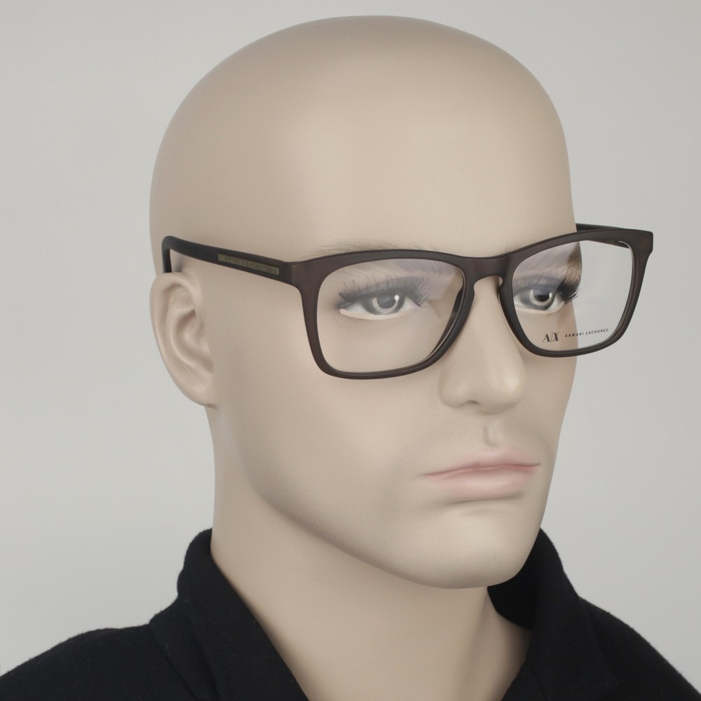 ... Óculos de Grau Armani Exchange Quadrado Acetato Marrom Aro Fechado Sem  Plaquetas 0ax3012l808354 ... 89749d7bc3