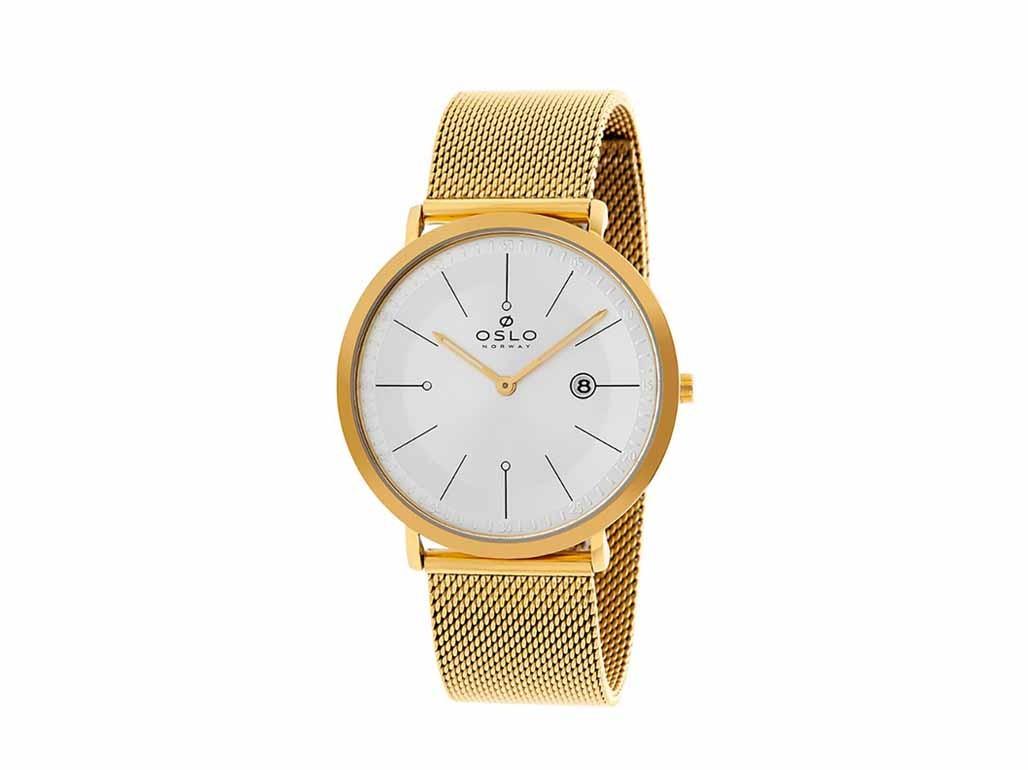 29a05a7b7d4 Relógio Oslo Dourado Unissex Authentika Joias
