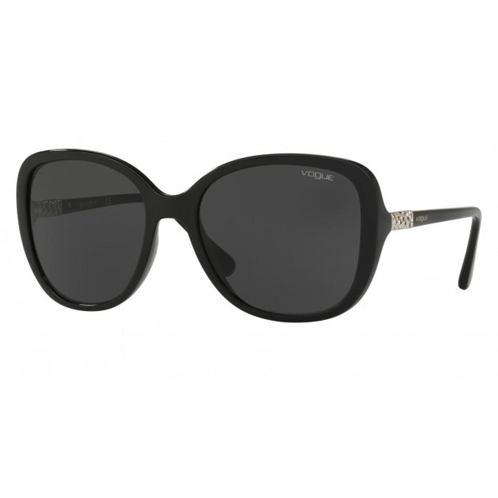 d759d85261873 Óculos de Sol Vogue Quadrado Armação Acetato Preto Lente Preta Comum Sem  Plaquetas 0vo5154sb w44  ...