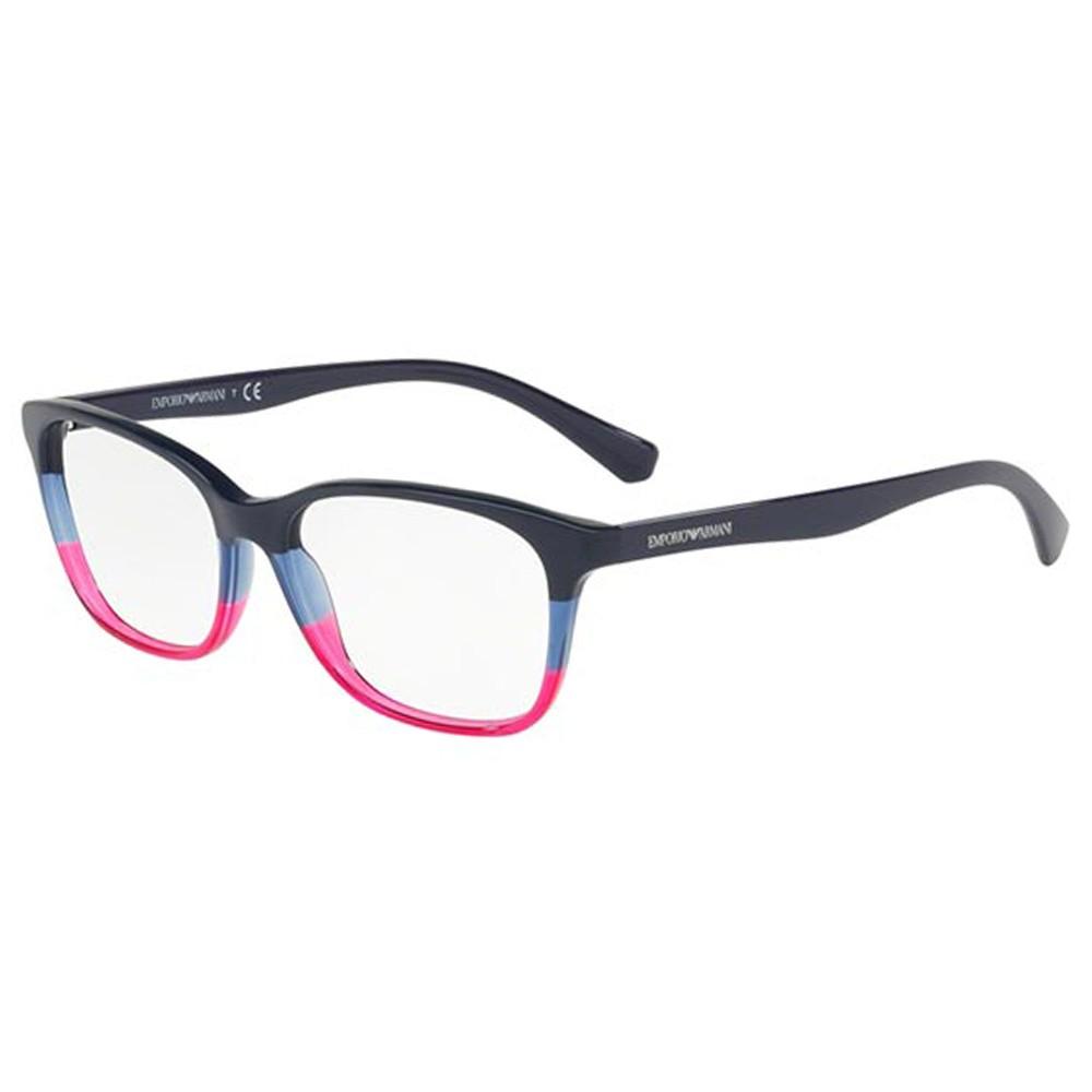 Óculos de Grau Emporio Armani Gatinho Acetato Azul Aro Fechado Sem Plaquetas  0ea3126 5633 52 ... 6af3e315f0