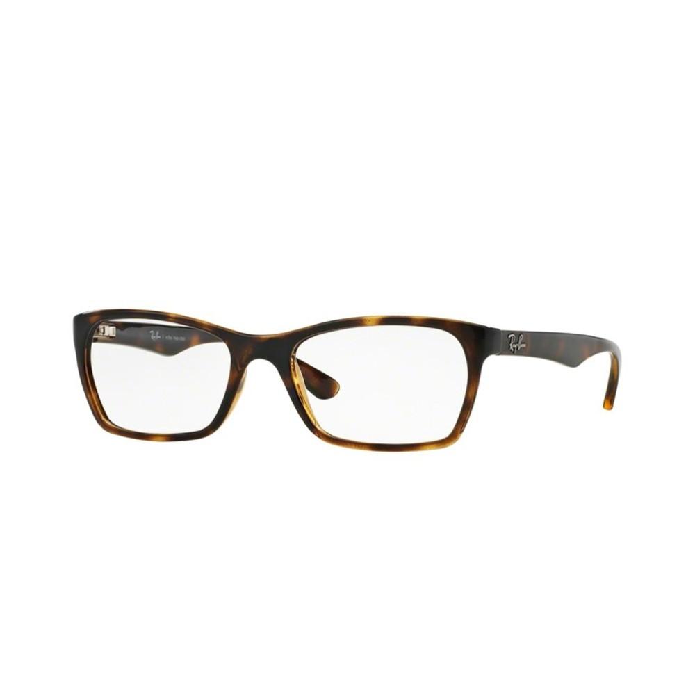 6d8072aa39f11 Óculos de Grau Ray-Ban Retangular Acetato Tartaruga Aro Fechado Sem  Plaquetas 0rx7033l 2301 52 ...