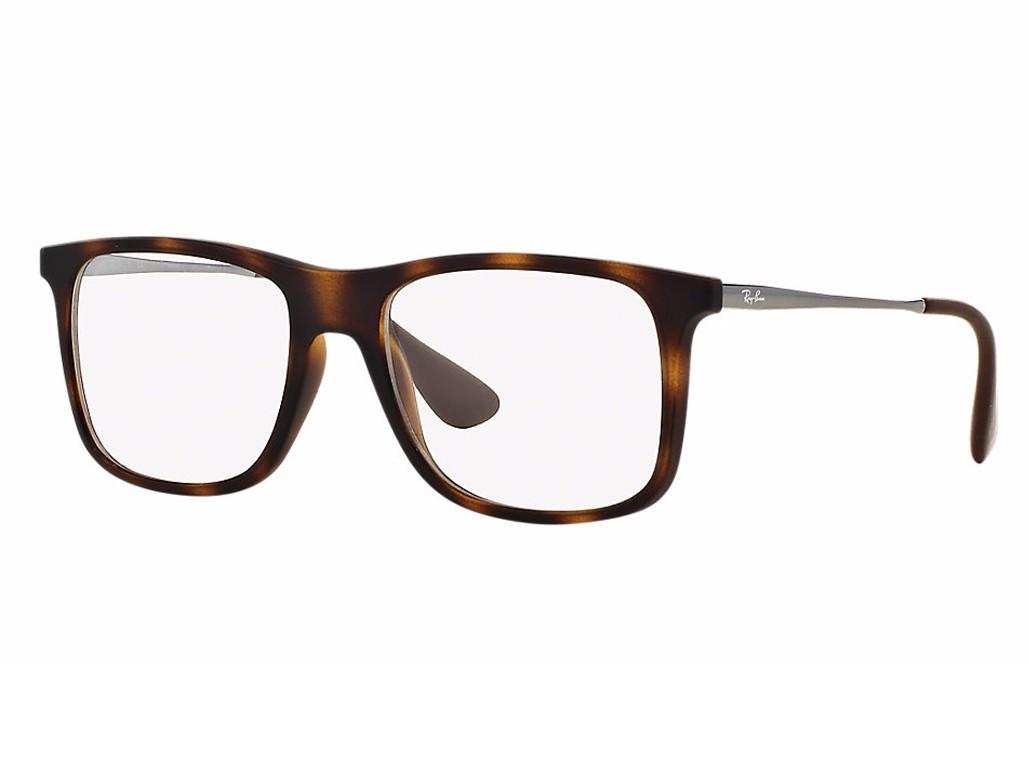 3913e1df2bfa0 Óculos de Grau Ray-Ban Quadrado Acetato Tartaruga Aro Fechado Sem Plaquetas  0rx7054l 5365 53