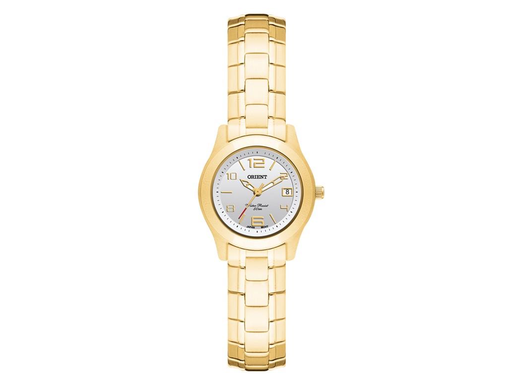 7b3bc7d8185 Relógio Orient Eternal Dourado e Branco Feminino Authentika Joias