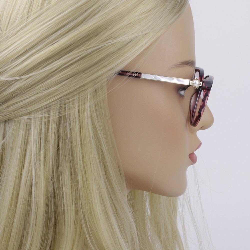68039dc841ea6 ... Óculos de Grau Ana Hickmann Gatinho Acetato Vermelha Aro Fechado Sem  Plaquetas PARIS II WINE ...