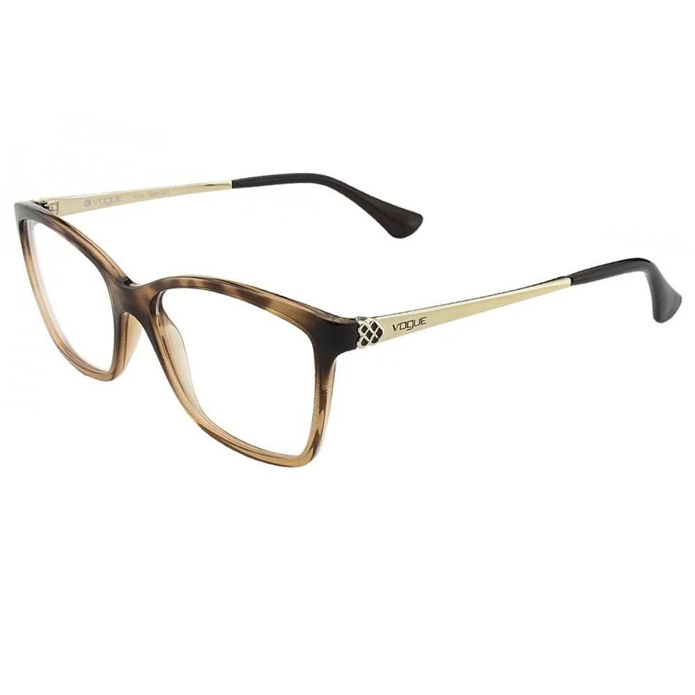 Óculos de Grau Vogue Quadrado Acetato Tartaruga Aro Fechado Sem Plaquetas  0vo5043l 2505 54 ... 513d901057