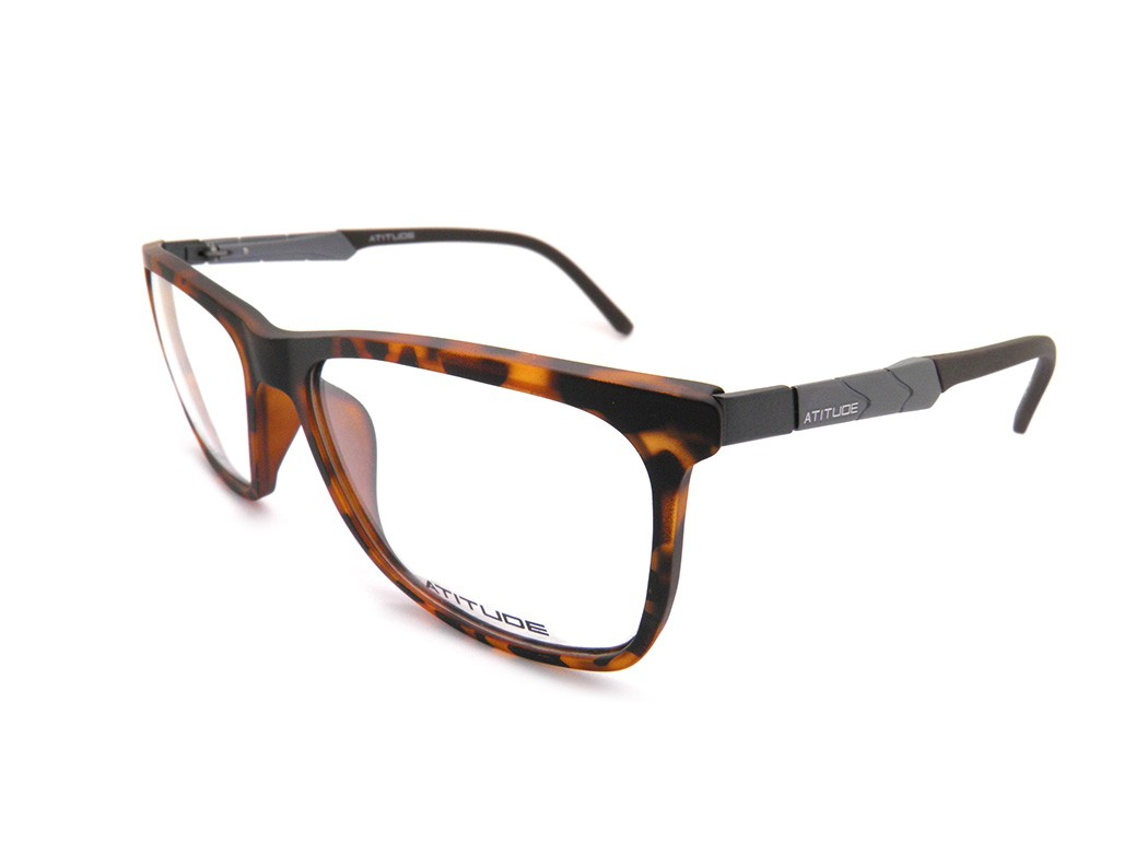 d9908b3f67e9c Óculos de Grau Atitude Quadrado Acetato Tartaruga Aro Fechado Sem Plaquetas  at4000 g21