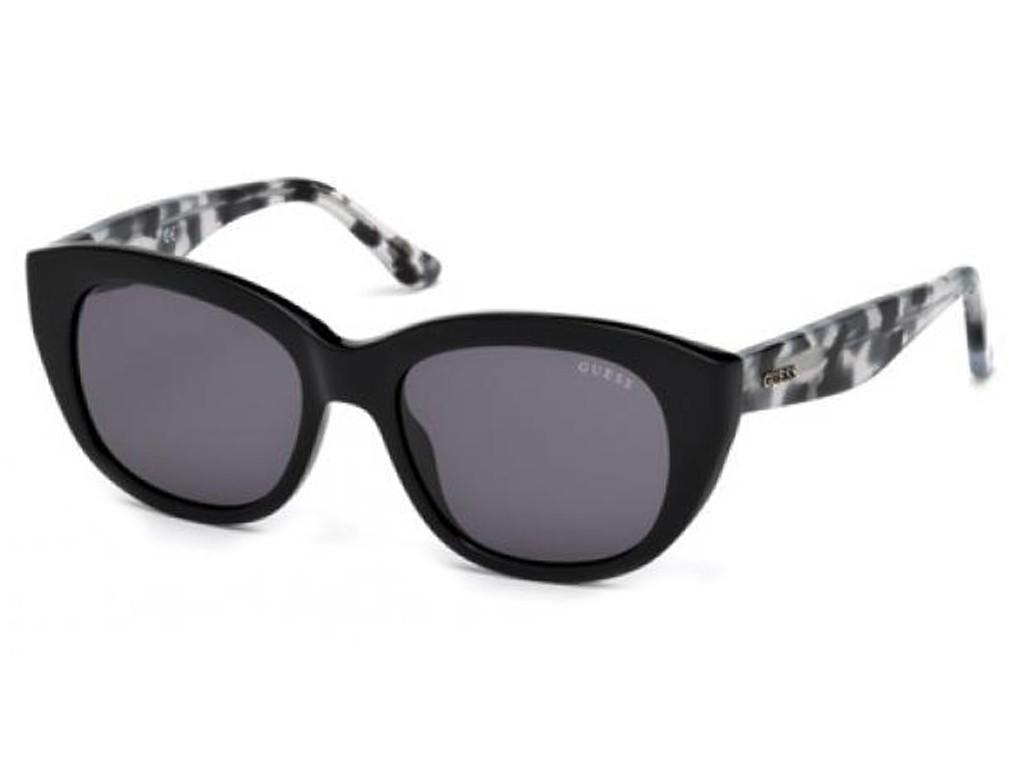 Óculos de Sol Guess Gatinho Armação Acetato Preta Lente Preta Comum Sem  Plaquetas gu7477 5301a 4510fcb920