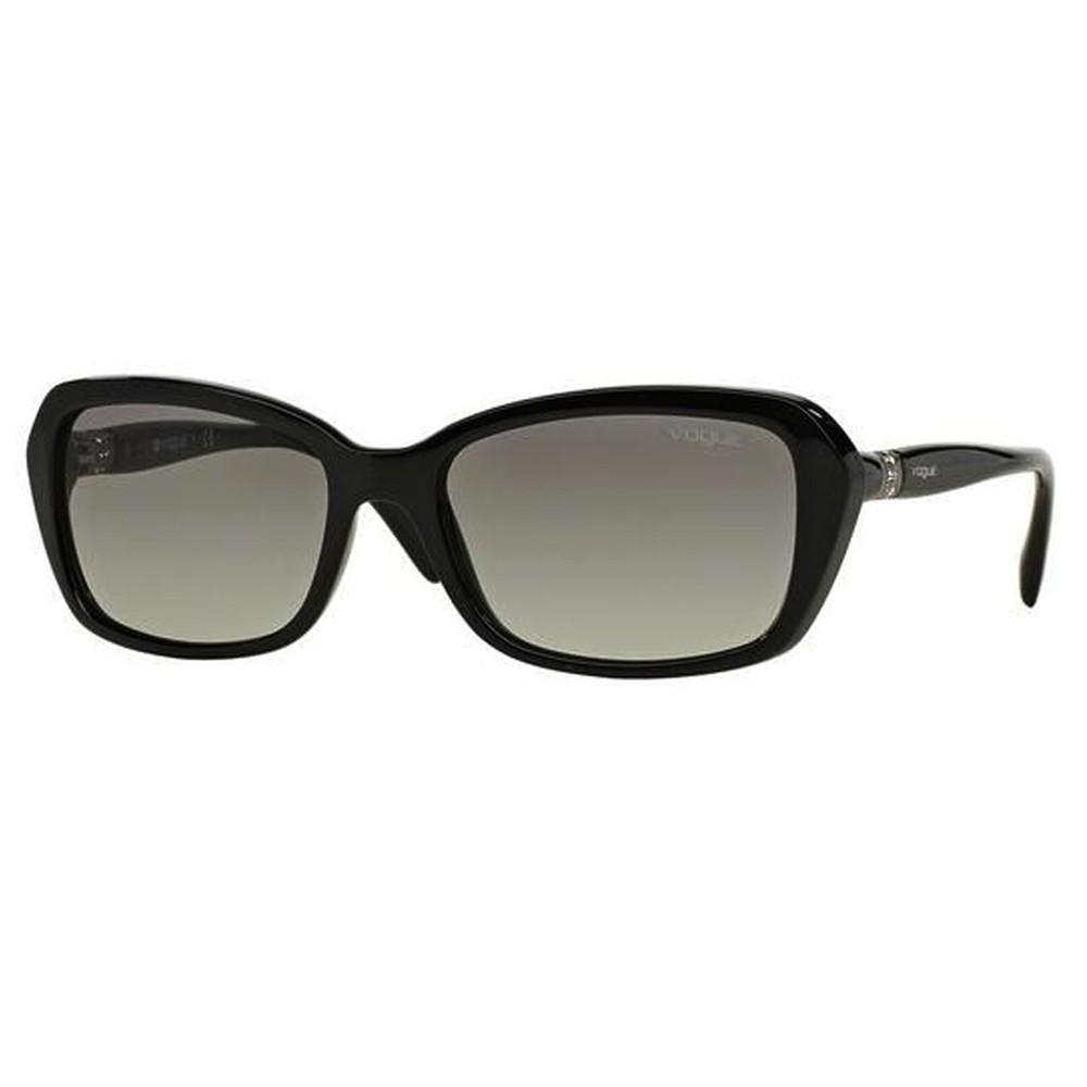 636e3baffff21 Óculos de Sol Vogue Quadrado Armação Acetato Preto Lente Preta Comum Sem  Plaquetas vo2964sb w44  ...