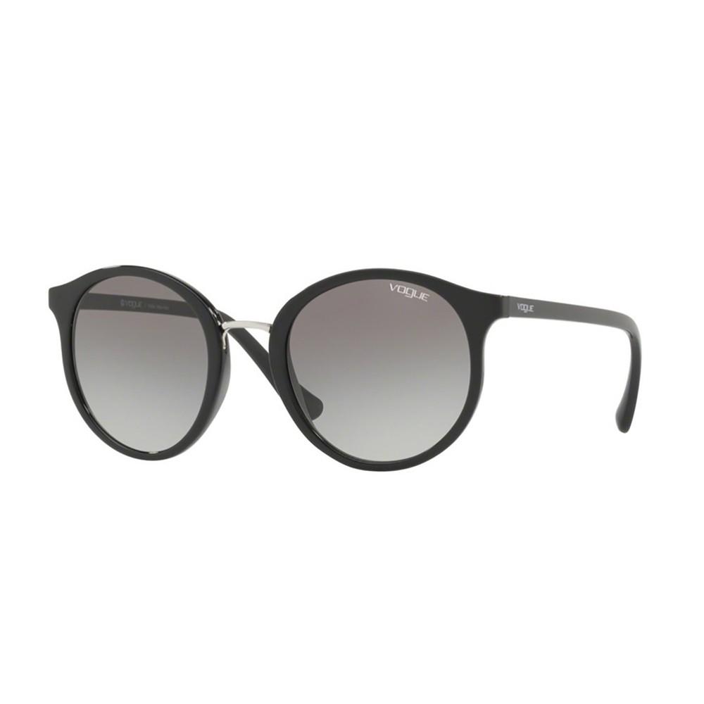 303aeb1f8ea82 Óculos de Sol Vogue Redondo Armação Acetato Preta Lente Preta Comum Sem  Plaquetas 0vo5166sl w44  ...