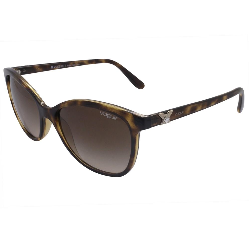 b666c6e4818f6 Óculos de Sol Vogue Quadrado Armação Acetato Tartaruga Lente Marrom Degradê Sem  Plaquetas 0vo5185bl w6561356 ...