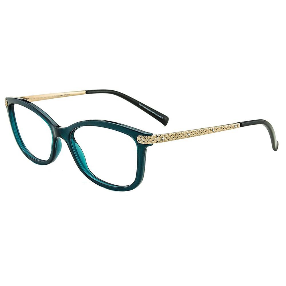 36389da76e776 Óculos de Grau Grazi Massafera Gatinho Acetato Verde Aro Fechado Sem  Plaquetas 0gz3026b f334 52