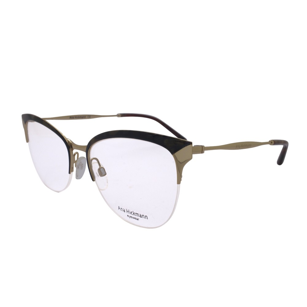 8dad3fb7b2c65 Óculos de Grau Ana Hickmann Gatinho Metal Tartaruga Aro Aberto Com Plaquetas  ah1352 04c ...