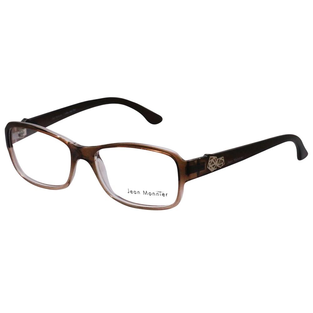 d16161bf1799f Óculos de Grau Jean Monnier Gatinho Acetato Marrom Aro Fechado Sem Plaquetas  0j83136 c737 52 ...
