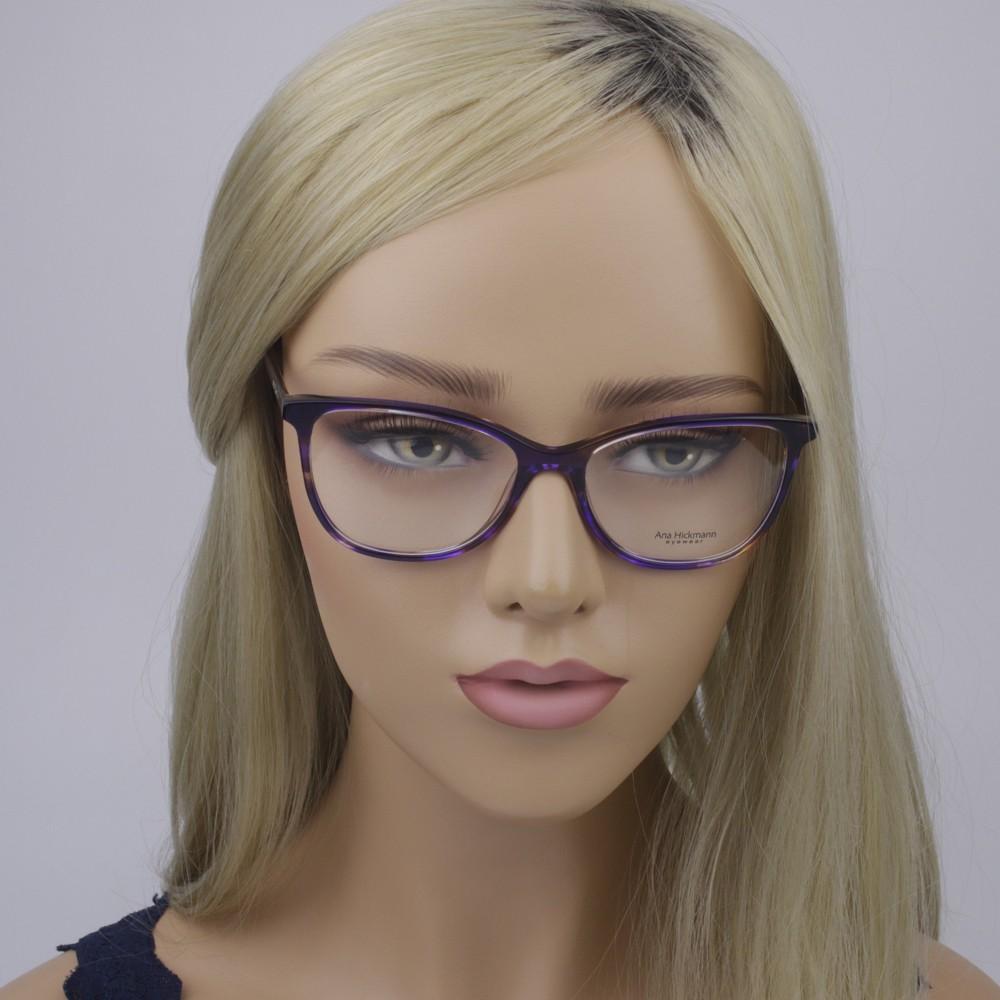 ... Óculos de Grau Ana Hickmann Quadrado Acetato Roxa Aro Fechado Sem  Plaquetas ah6340 e02 ... aae199e1f5