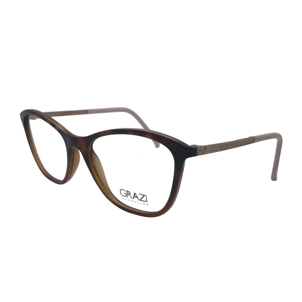 2fd31ed7314a6 Óculos de Grau Grazi Massafera Redondo Acetato Tartaruga Aro Fechado Sem  Plaquetas 0gz3041 f934 52 ...