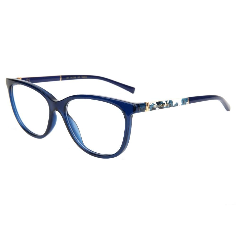 Óculos de Grau Ana Hickmann Gatinho Acetato Azul Aro Fechado Sem Plaquetas  ah6267 t01 ... 4a1d9f1405