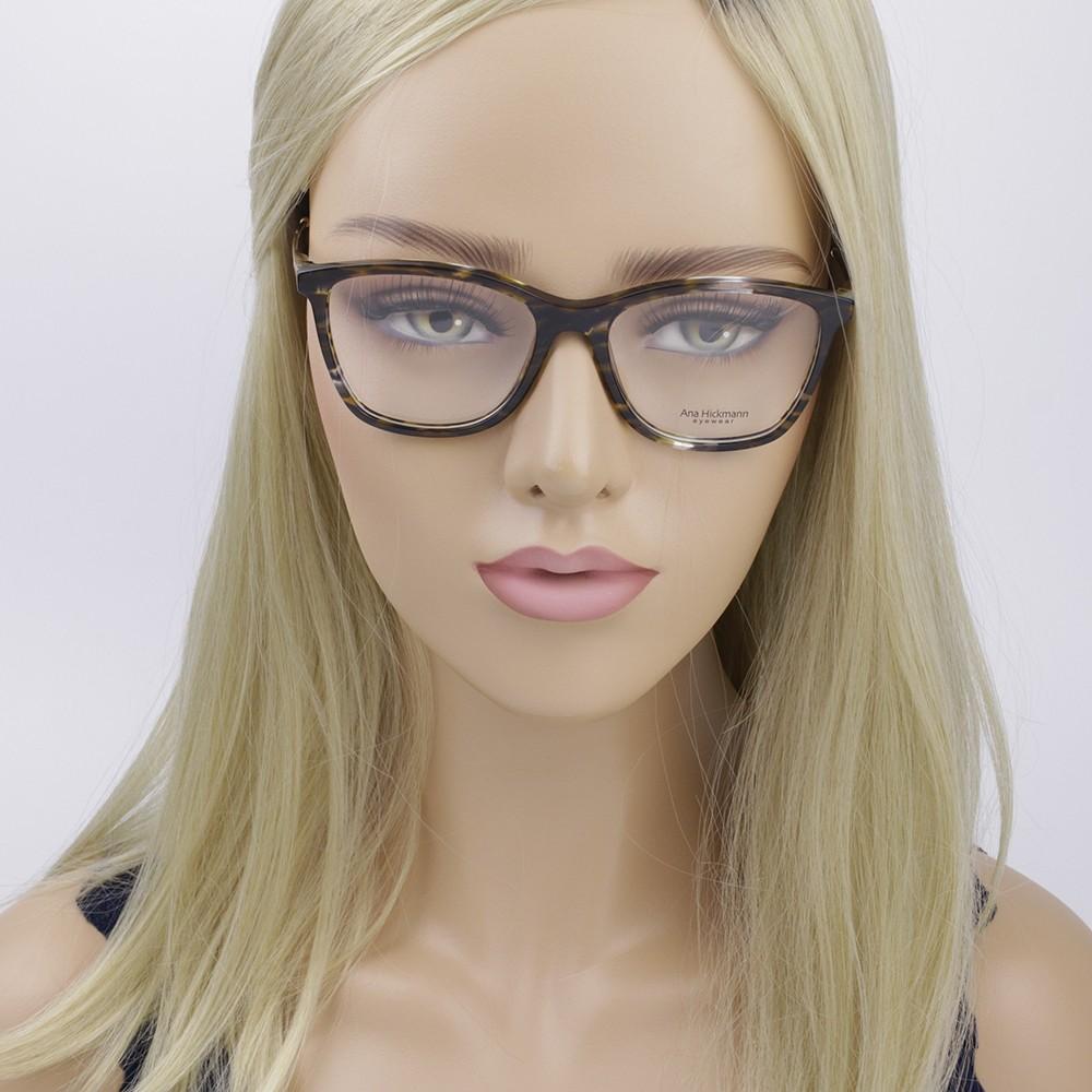 ... Óculos de Grau Ana Hickmann Quadrado Acetato Tartaruga Aro Fechado Sem  Plaquetas ah6269 e01 ... 550666dd3d