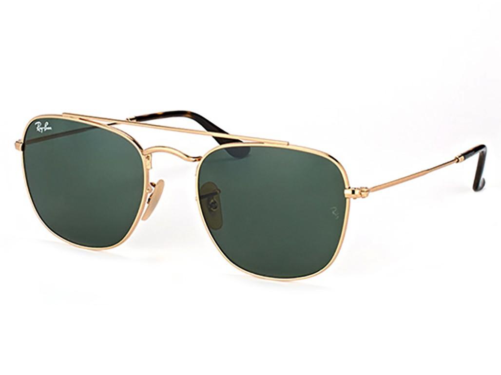 20ae5ba23798b Óculos de Sol Ray-Ban Hexagonal Armação Metal Dourado Lente Verde Comum Com  Plaquetas 0rb3557