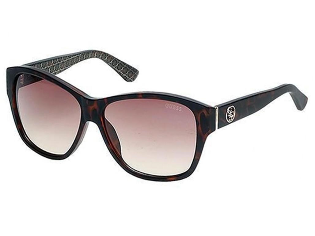 4b7add6e02cf4 Óculos de Sol Guess Quadrado Armação Acetato Tartaruga Lente Marrom Degradê  Sem Plaquetas gu7412 5952f