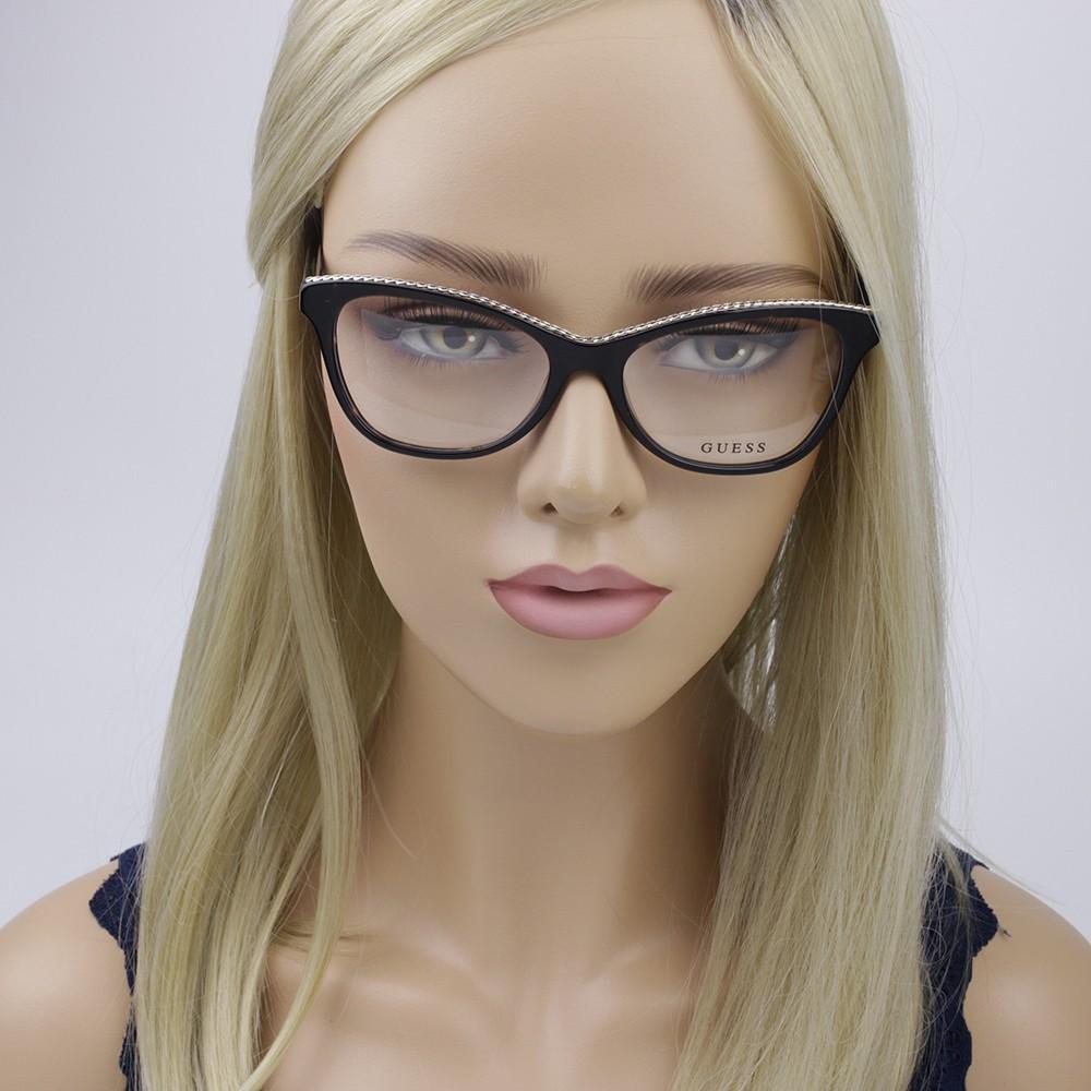 3b623abd05bf7 ... Óculos de Grau Guess Gatinho Acetato Tartaruga Aro Fechado Sem  Plaquetas gu2624 55052 ...