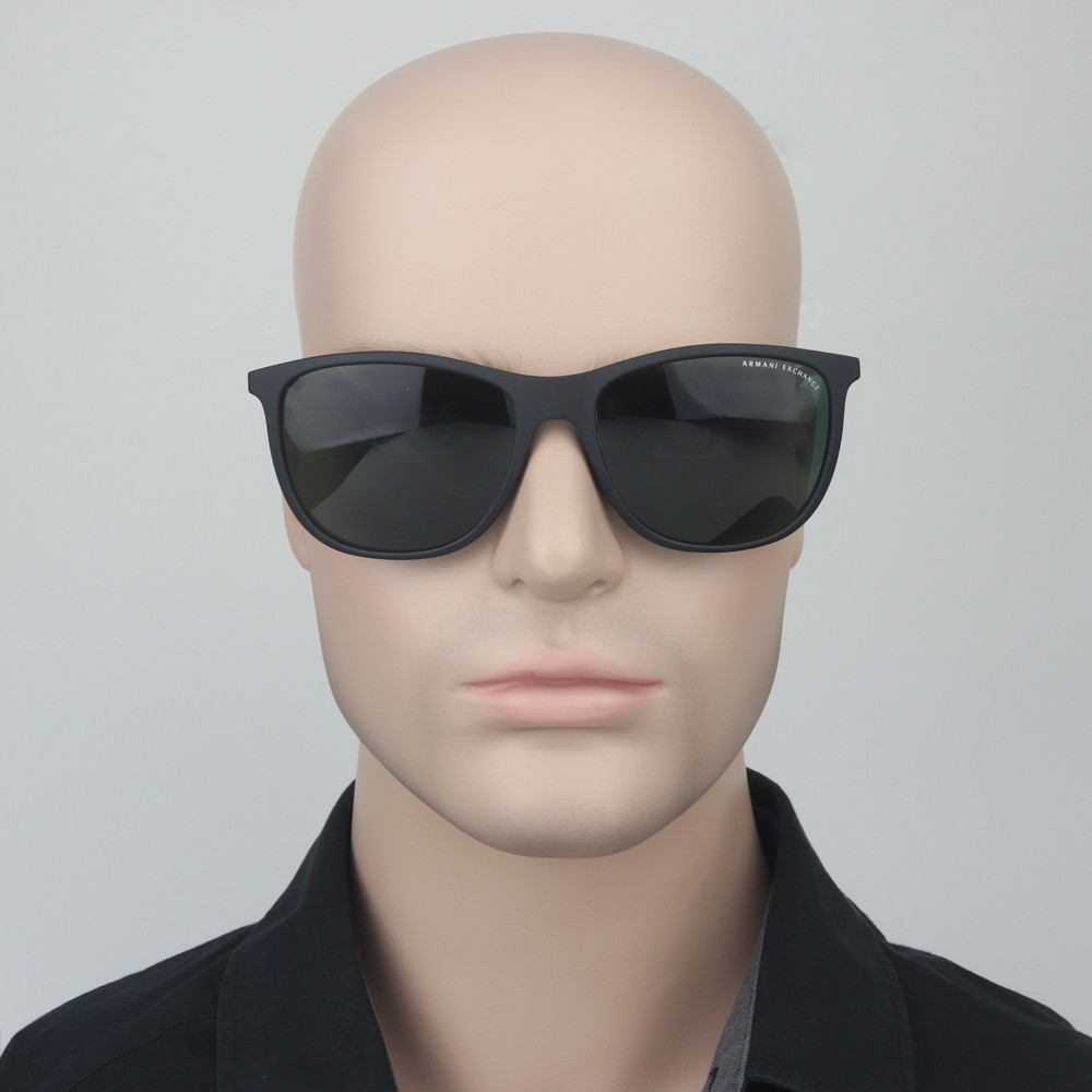 ... Óculos de Sol Armani Exchange Redondo Armação Plástico Preta Lente  Preta Comum Sem Plaquetas 0ax4047sl 80787157 ... 355cab4b71