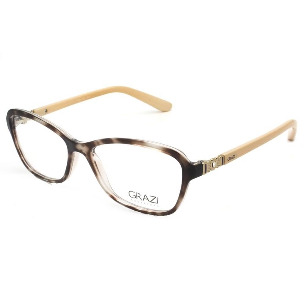 f7f83a8102d3d Óculos de Grau Grazi Massafera Quadrado Acetato Tartaruga Aro Fechado Sem  Plaquetas 0gz3028b e40951