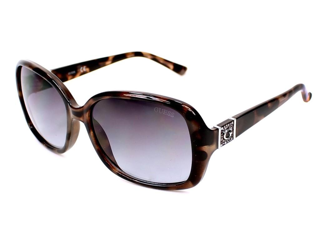 Óculos de Sol Guess Quadrado Armação Acetato Tartaruga Lente Preta Degradê  Sem Plaquetas gu7423 5855b 9e7b6356e3
