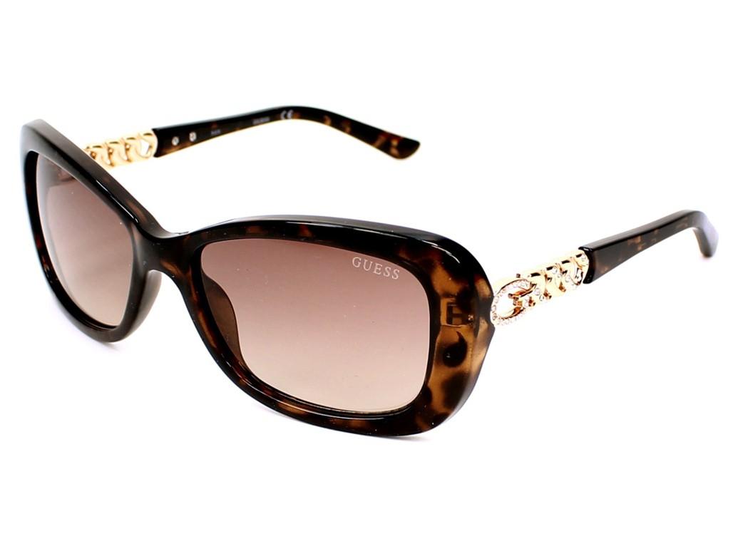 Óculos de Sol Guess Retangular Armação Acetato Tartaruga Lente Marrom Comum  Sem Plaquetas gu7453 5652F 41d000df94
